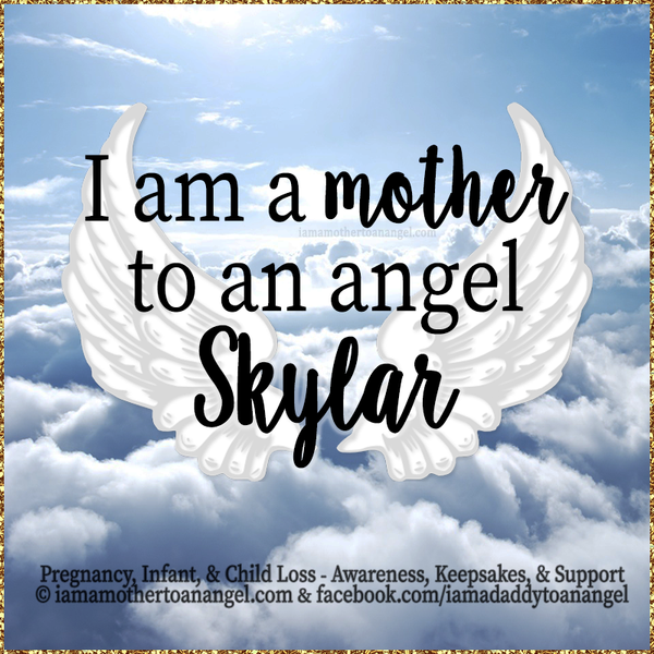 Digital Personalized Keepsake Graphic - I Am A Mother To An Angel