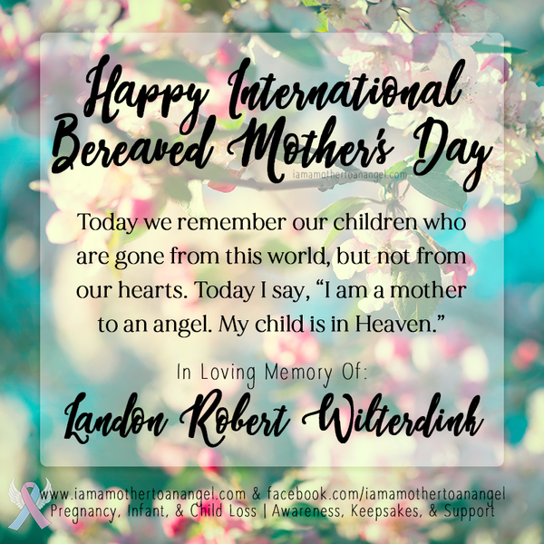 Digital Personalized Keepsake Graphic - International Bereaved Mother's Day 2018