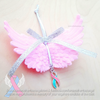 Large Angel Wings Ornament - Pink, Blue, or White