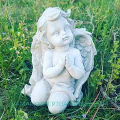 Little Gazing Angel Statue - Approx 4""