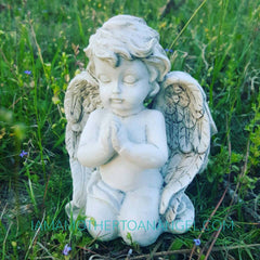 Little Praying Angel Statue - Approx 4""