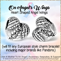 On Angel's Wings - European Charm (Pandora Style)