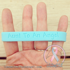 Wristband - Aunt To An Angel - Baby Blue