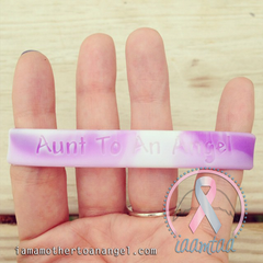 Wristband - Aunt To An Angel - Purple/White