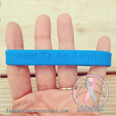 Wristband - Aunt To An Angel - GITD Blue