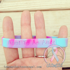 Wristband - Aunt To An Angel - Pink/Blue