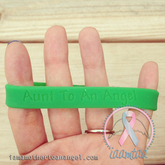 Wristband - Aunt To An Angel - GITD Green