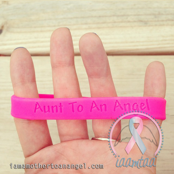 Wristband - Aunt To An Angel - Hot Pink
