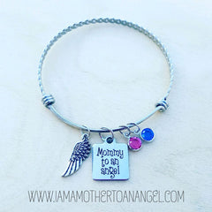 ---- To An Angel Adjustable Bangle (Your choice Mommy or Mummy)