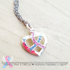 Awareness Ribbon Heart Necklace