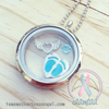 "Silver ""Mom"" Heart Memory Locket Charm"