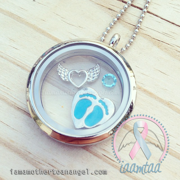 Blue Themed Memory Locket