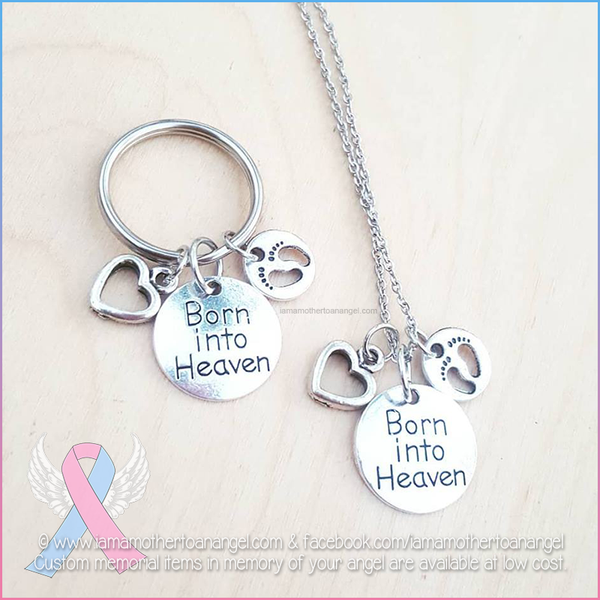 Born Into Heaven - Necklace Or Keychain (You choose!)