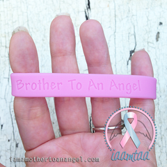 Wristband - Brother To An Angel - Baby Pink