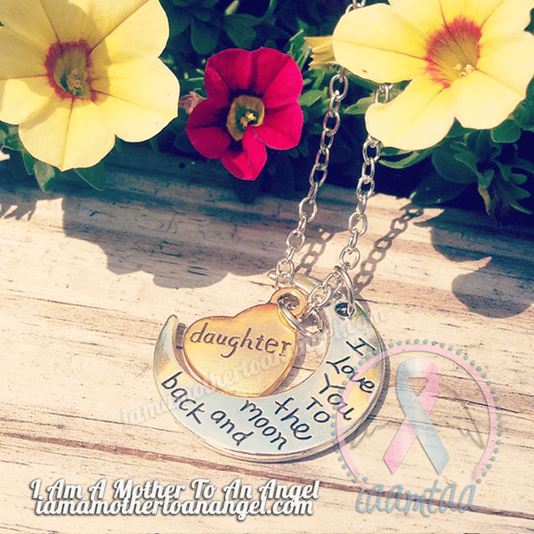 Daughter - I Love You To The Moon & Back Necklace