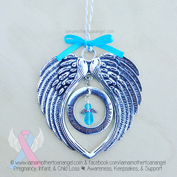 forever in my heart memorial christmas ornament i am a mother to