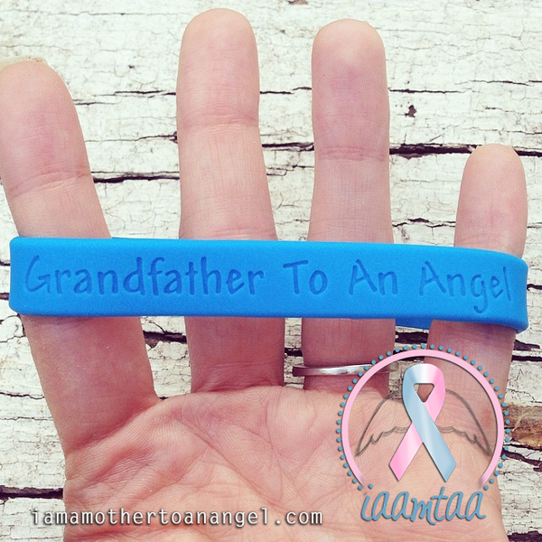 Wristband - Grandfather To An Angel - GITD Blue