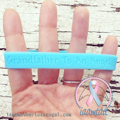 Wristband - Grandfather To An Angel - Baby Blue