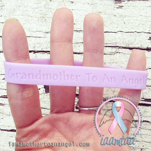 Wristband - Grandmother To An Angel - Lavender