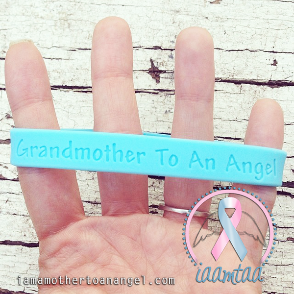 Wristband - Grandmother To An Angel - Baby Blue