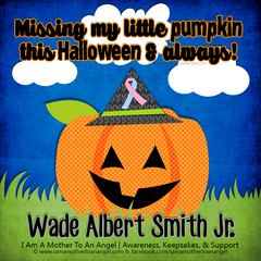 Digital Personalized Keepsake Graphic - Missing My Little Pumpkin Halloween 2016 Offer