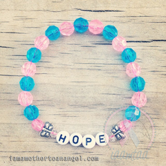 Sweet Little Butterflies Bracelet - Personalized - Pink/Blue