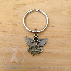 Bronze - Angels Watching Over Me Keychain