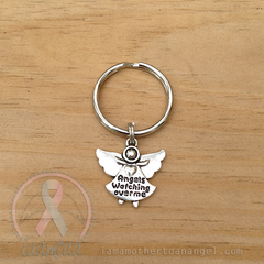Silver - Angels Watching Over Me Keychain