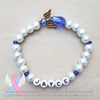 Royal Blue - White Pearl Angel Bracelet