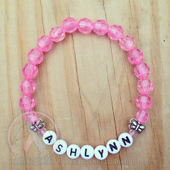 Sweet Little Butterflies Bracelet - Personalized - Pink