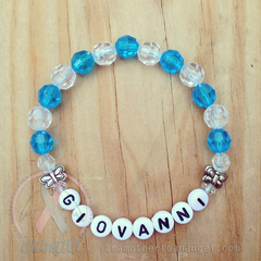 Sweet Little Butterflies Bracelet - Personalized - Blue/Clear