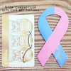 "SMALL Pink & Blue Awareness Ribbon Magnet for Car/Fridge - Approx 4"" Tall"