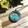 Double Hearts - Blue Themed Memory Locket