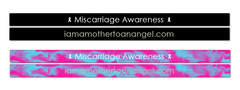 PREORDER - Miscarriage Awareness Wristband (1/4 inch SlimBand)