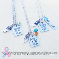 ---- To An Angel Necklace (Your choice Mommy, Mummy, or Daddy)
