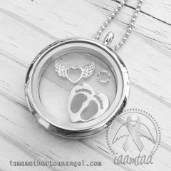 White/Neutral Themed Memory Locket