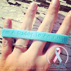 Wristband - I Am A Daddy To An Angel - Baby Blue