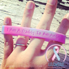 Wristband - I Am A Daddy To An Angel - Pink/Blue Swirl