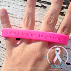 Wristband - I Am A Mother To An Angel - Hot Pink