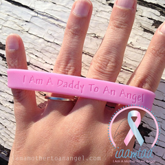 Wristband - I Am A Daddy To An Angel - Baby Pink