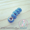 "Pandora Fit ""Aquamarine/Blue Zircon"" Crystal Encrusted Charm"