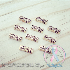 "Gold ""BELIEVE"" Memory Locket Charm"