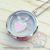 White/Neutral - Footprints On My Heart Charm