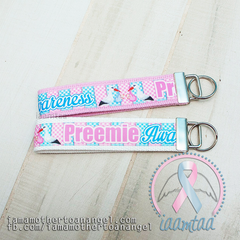WHITE Preemie Awareness Key Fob