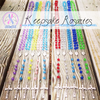 Handmade Keepsake Rosary - Red, Clear, & Blue - CHD Awareness