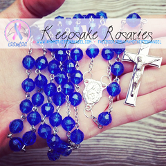 Handmade Keepsake Rosary - Royal Blue