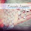 Handmade Keepsake Rosary - Clear