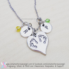 Twin Footprints Necklace