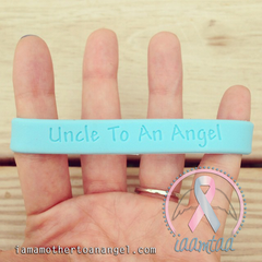 Wristband - Uncle To An Angel - Baby Blue