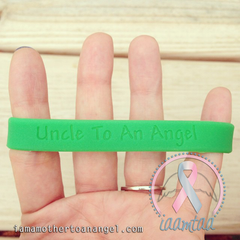 Wristband - Uncle To An Angel - GITD Green